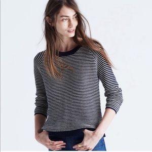 Madewell Blue White Striped Dockline Sweater